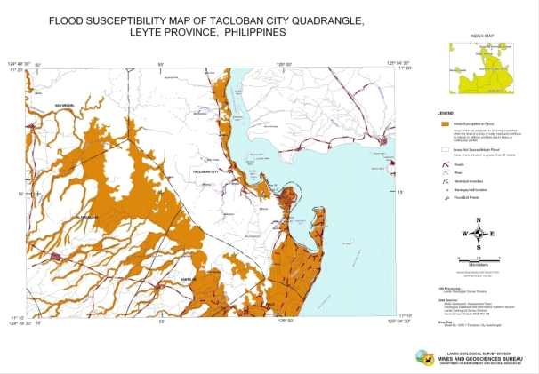 Tacloban Philippines Map.Tacloban City Gov T Warned Of Flood Hazard In January