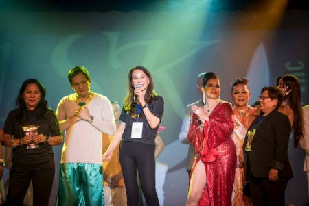"ASK Foundation, Inc. headed by Via Marquez Hoffmann thanking everyone for their support and reassured  that all proceeds of ""Mga Koronang Hilaw"" will help the  underpriviledged children, with facial deformities  in the Philippines. (Photo by Lenzmen)"