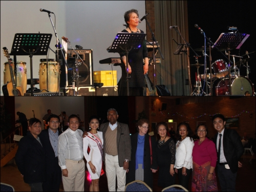 (Top) APCO Founding President, Dr Cen Amores addresses the guests.  (Below) Representatives from APCO pose with the Nepalese leaders and organising committee of 'Rebuild Nepal' fundraising