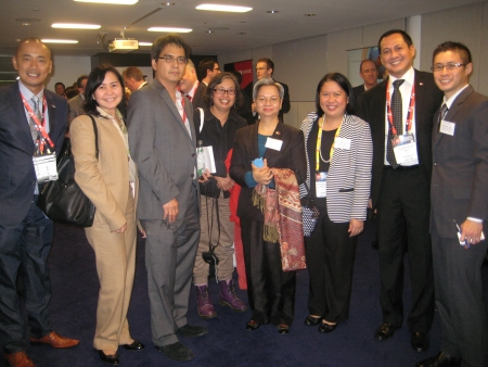 Philippine government officials, participants and attendees at the CeBIT