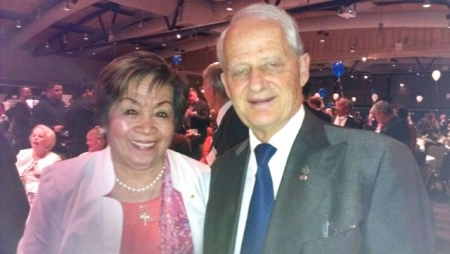 Phillip Maxwell Ruddock MP, the honoree and (leftz0 Lolita Farmer OAM, PCHN Writer.