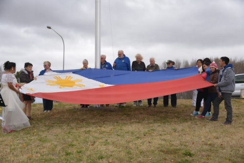 The Philippine flag raising at the Evans Bridge Kelso June 1 2013 mark the beginning of the celebration of the 115th Declaration of Philippine Independence