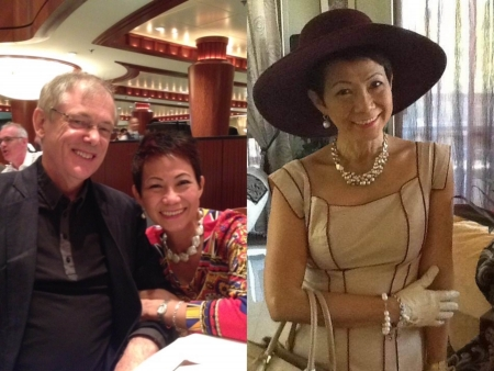 (left) Susana Lu Dizon and her partner, Terry O'Neil. (right) Susana Lu Dizon