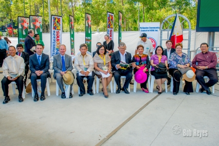 (l-r) Fr. Nards Mercene, Campbelltown Mayor John Brecevic, MP Kevin Conolly, Jun Relunia (event manager), Kate Andres (PCC-NSW President),  Minister for Multiculturalism John Ajaka, Ambassador Minda Calaquian-cruz, ConSul Gen Ann Jalando-on Louis, Mr. Gerry Louis.