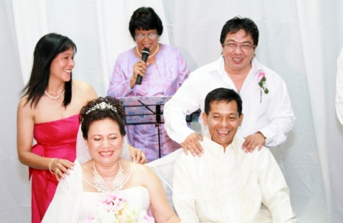 Lyn & Mario during their wedding
