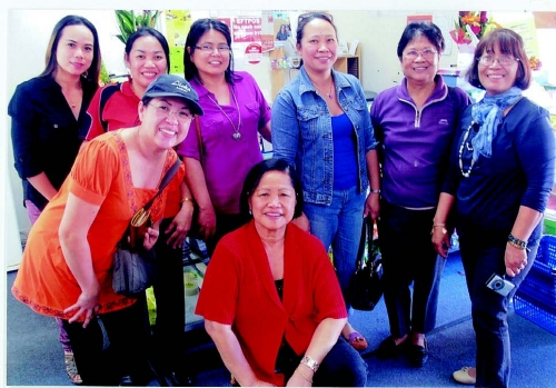 """The Flavours of Asia"" - People enjoyed free barbeque and free tasting of Filipino foods at the Grand Opening of Lyn's Asian Variety Store at 2 Dalley St., East Lismore (02) 66218181. Owners: Gary Lyn Mazzer."